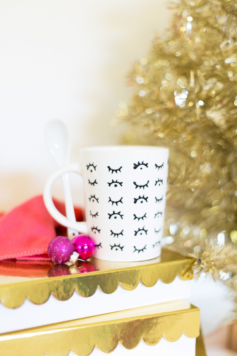 How to Make a Hand Painted Patterned Coffee Mug