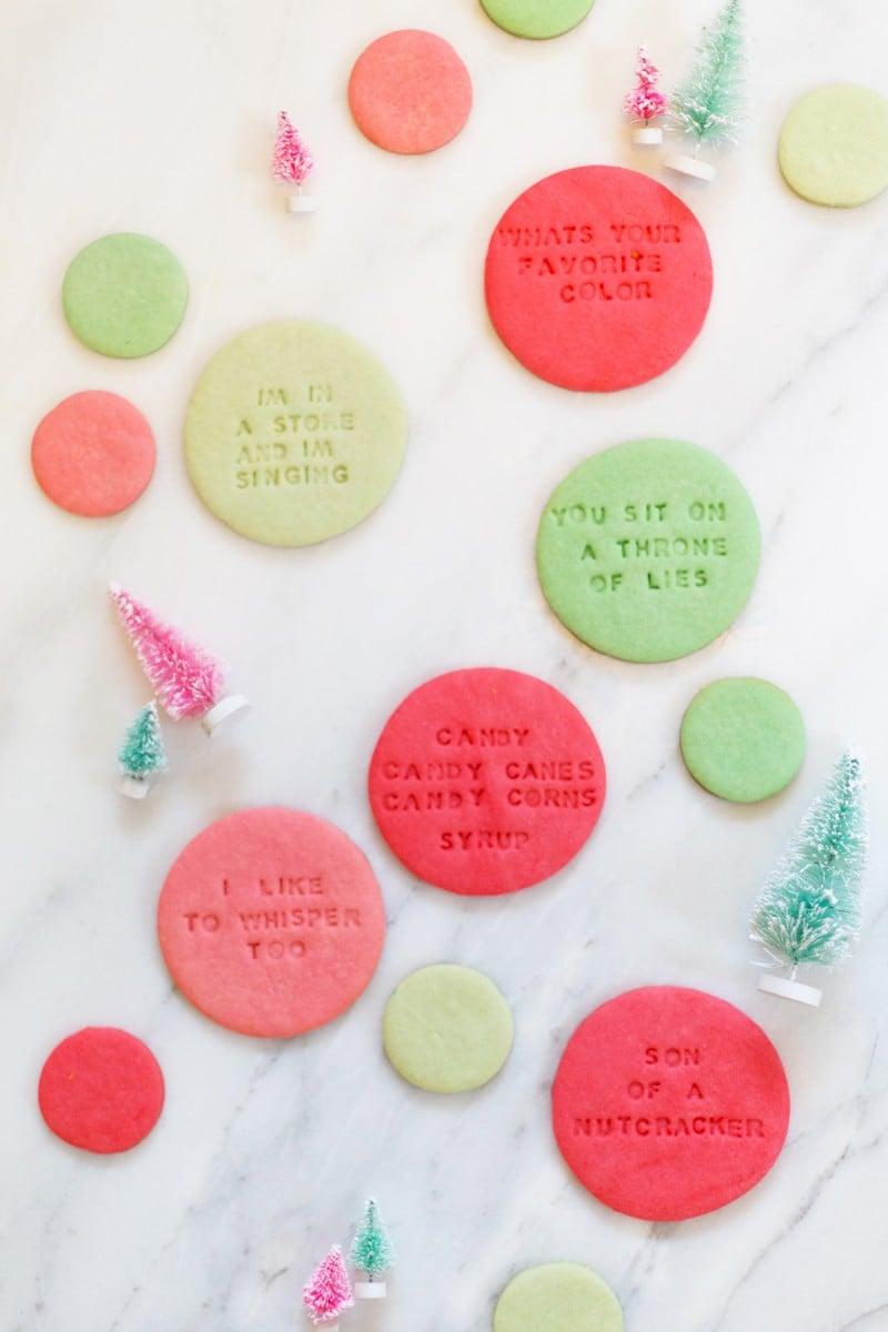 Elf Quote Christmas Cookies