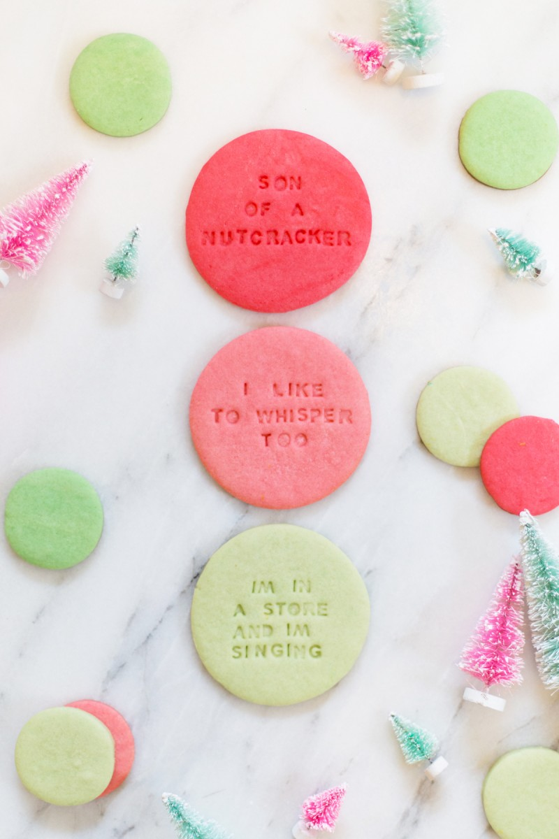 Elf Quote Christmas Cookies