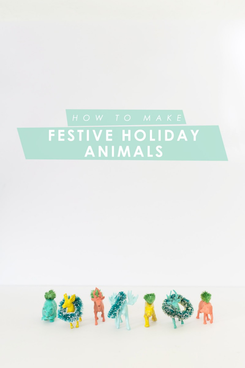 Festive Holiday Animals for a Kid's Christmas Tree