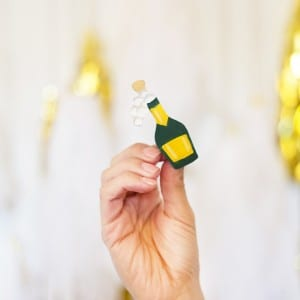 DIY Champagne Emoji New Year's Pin thumbnail