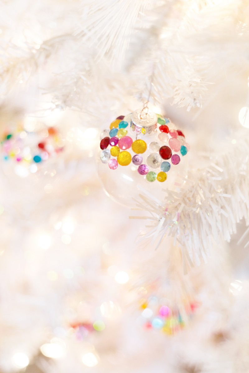 How to Make Rhinestone Christmas Tree Ornaments
