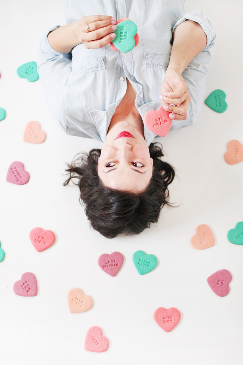 How to Make Conversation Heart Sugar Cookies for Valentine's Day