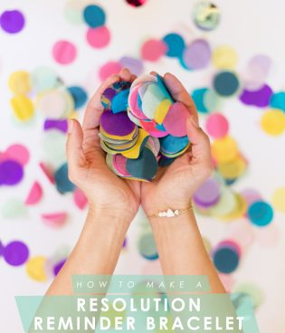 DIY Resolution Reminder Bracelet with Handmade Beads thumbnail