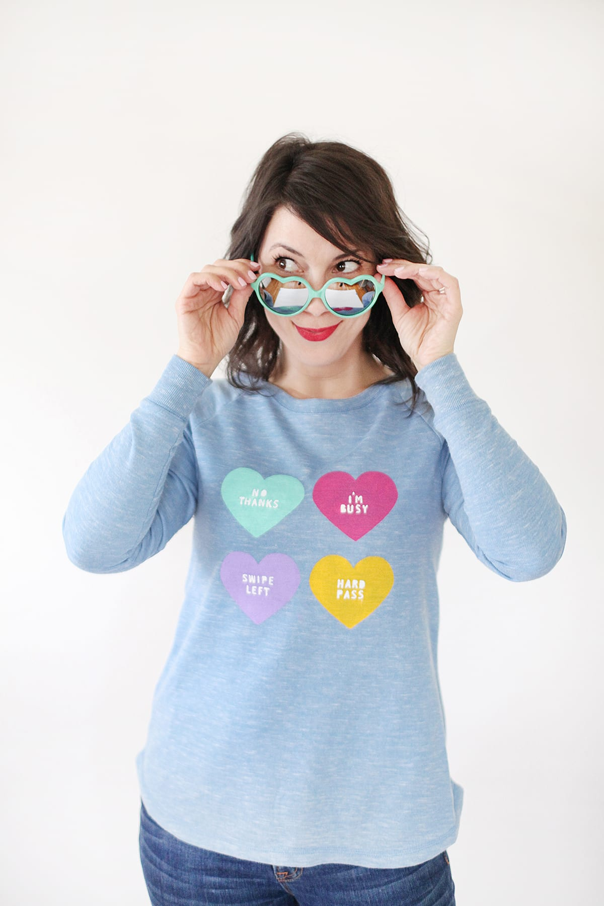 How to Make an Anti Conversation Heart Sweater for Valentine's Day