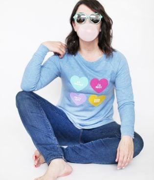 DIY Anti Conversation Heart Sweater thumbnail