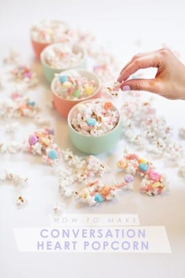 How to Make Conversation Heart Popcorn for Valentine's Day