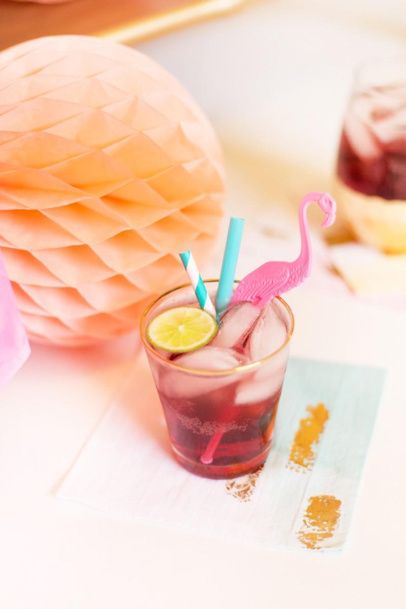 Raspberry Italian Soda Cocktail