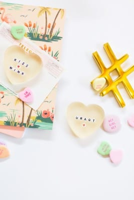 How to Make Resin Conversation Heart Paperweights