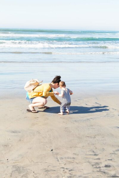 Mom and Baby on the Beach