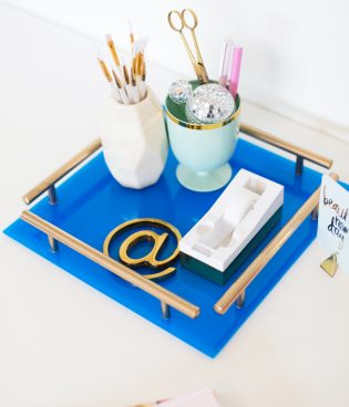 DIY Gold Bar Acrylic Tray thumbnail