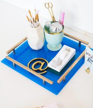 DIY Gold Bar Acrylic Tray thumbnail