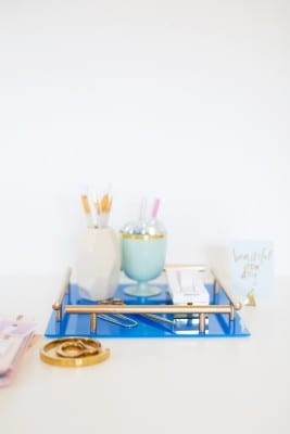 How to Make a Gold Bar Acrylic Tray