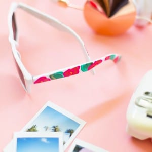 How to Make Painted Floral Sunglasses