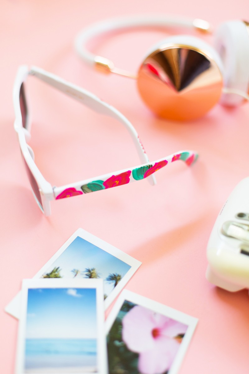 How To Make Sunglasses  diy fl painted sunglasses lovely indeed