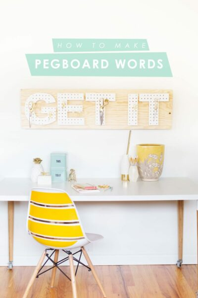 How to Make DIY Pegboard Words