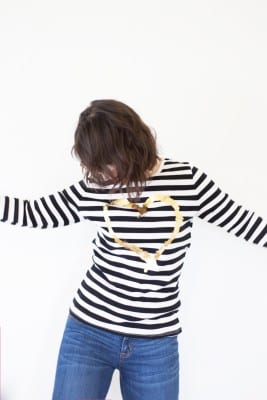 How to Make a Gold Foil Iron Transfer Shirt for Valentine's Day