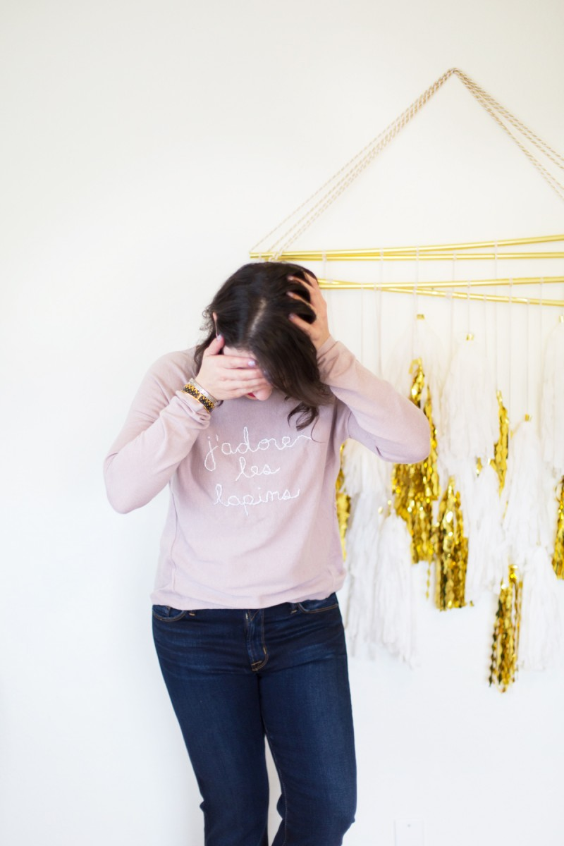 DIY Embroidered Easter Sweater