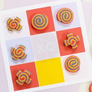 DIY Tic-Tac-Toe Valentine with X and O Cookies thumbnail