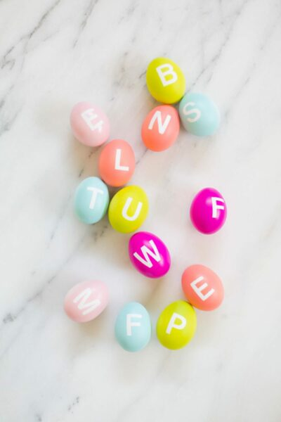 DIY Alphabet Easter Eggs