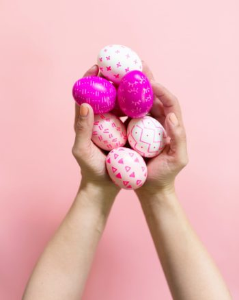 DIY Paint Pen Patterned Easter Eggs