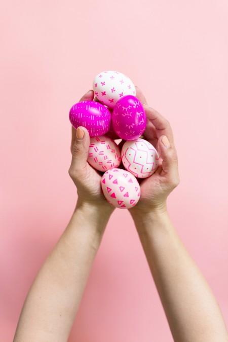 DIY Paint Pen Patterned Easter Eggs