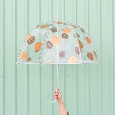 hand holding umbrella