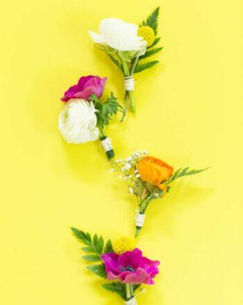 DIY Floral Boutonnieres