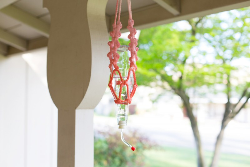 DIY Macrame Hummingbird Feeder