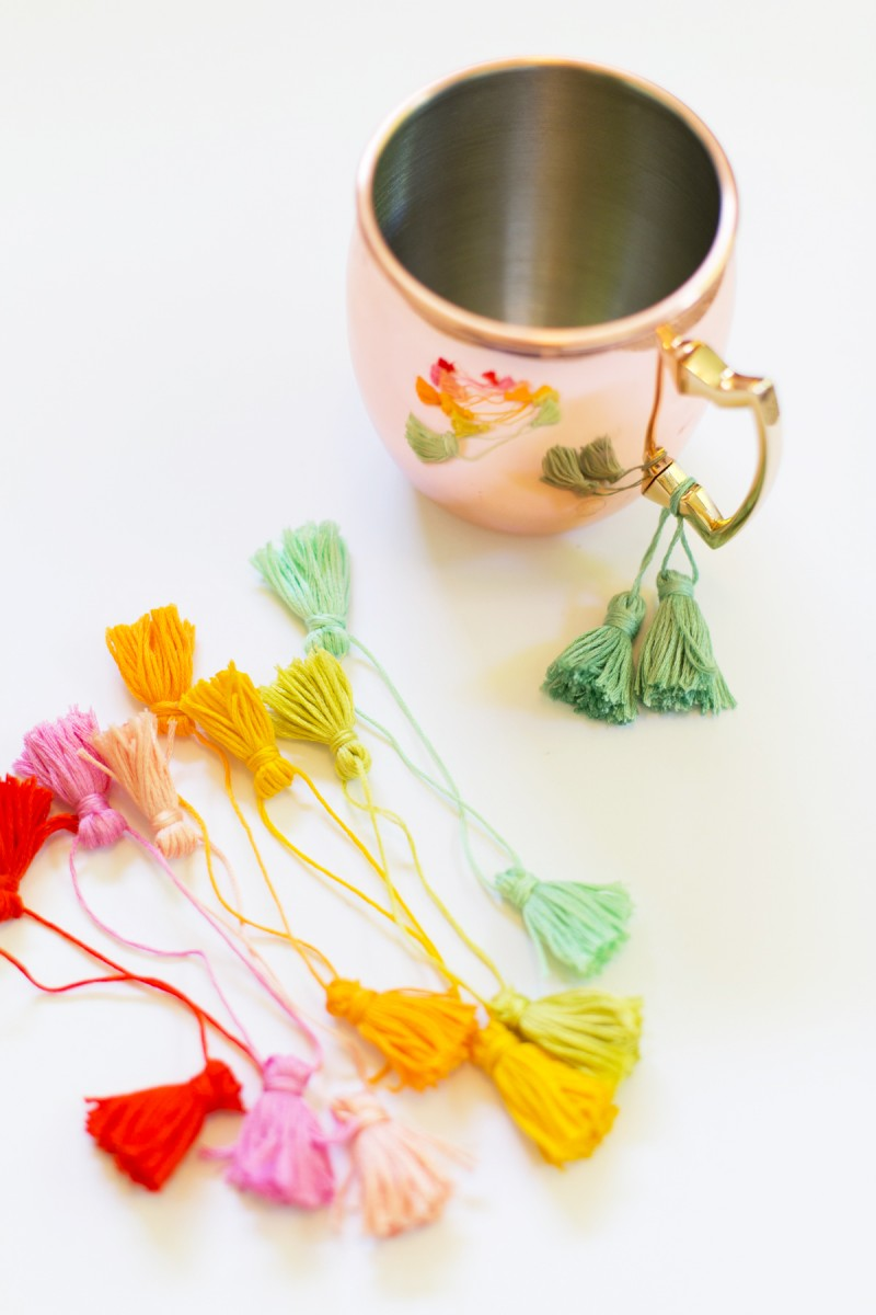 How to Make Moscow Mule Mug Tassels
