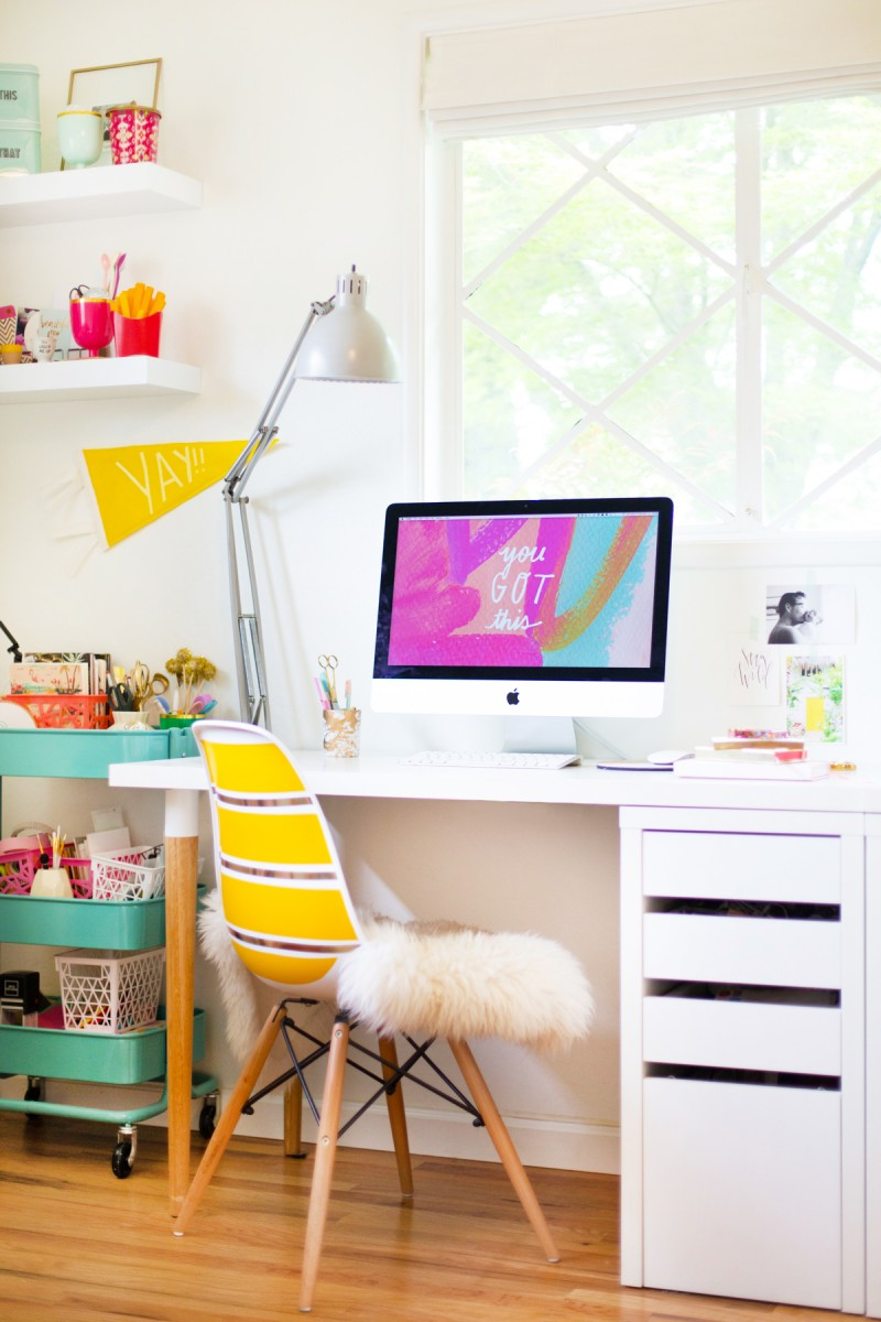 diy ikea desk hack lovely indeed. Black Bedroom Furniture Sets. Home Design Ideas