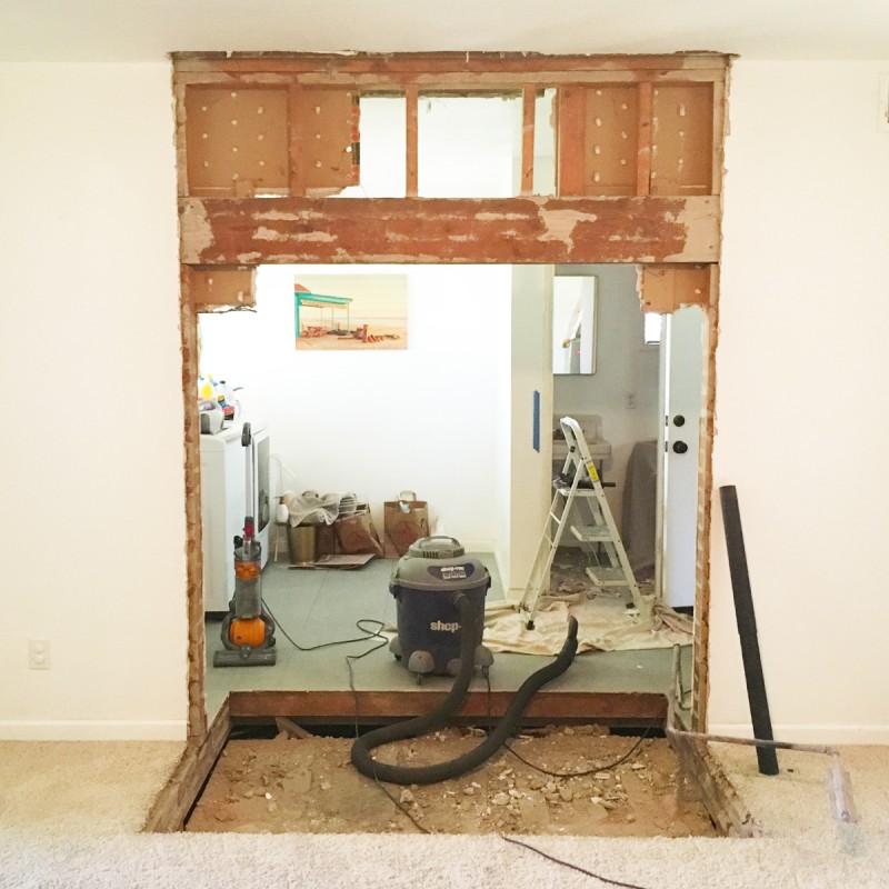 Hole in Living Room Floor