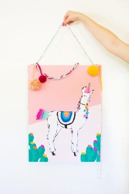 Pin the tail on the llama game for Cinco de Mayo