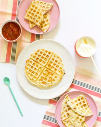 Waffle quesadilla recipe