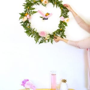 DIY Floral Wall Clock thumbnail