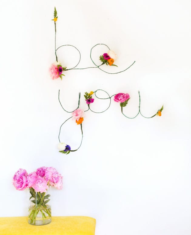 DIY Floral and Wire Words + Free Download thumbnail