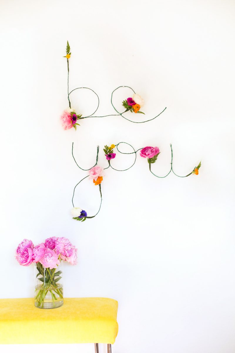 Vintage Floral and wire words