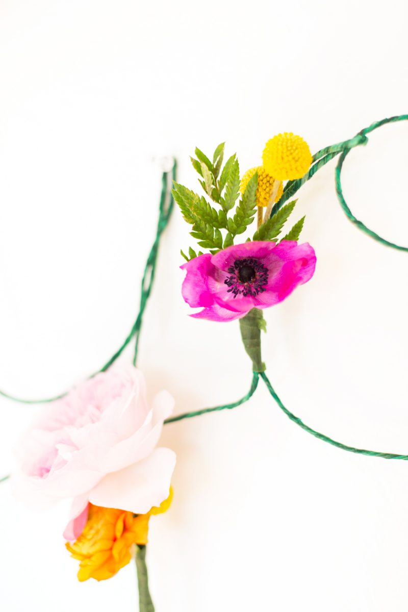 DIY Floral and Wire Words + Free Download | Lovely Indeed