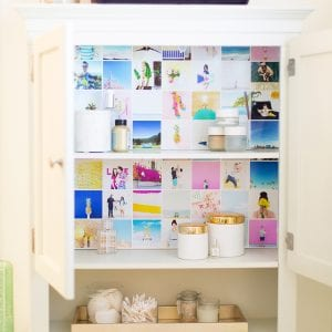 How to Wallpaper Your Cabinets with Instagram Photos
