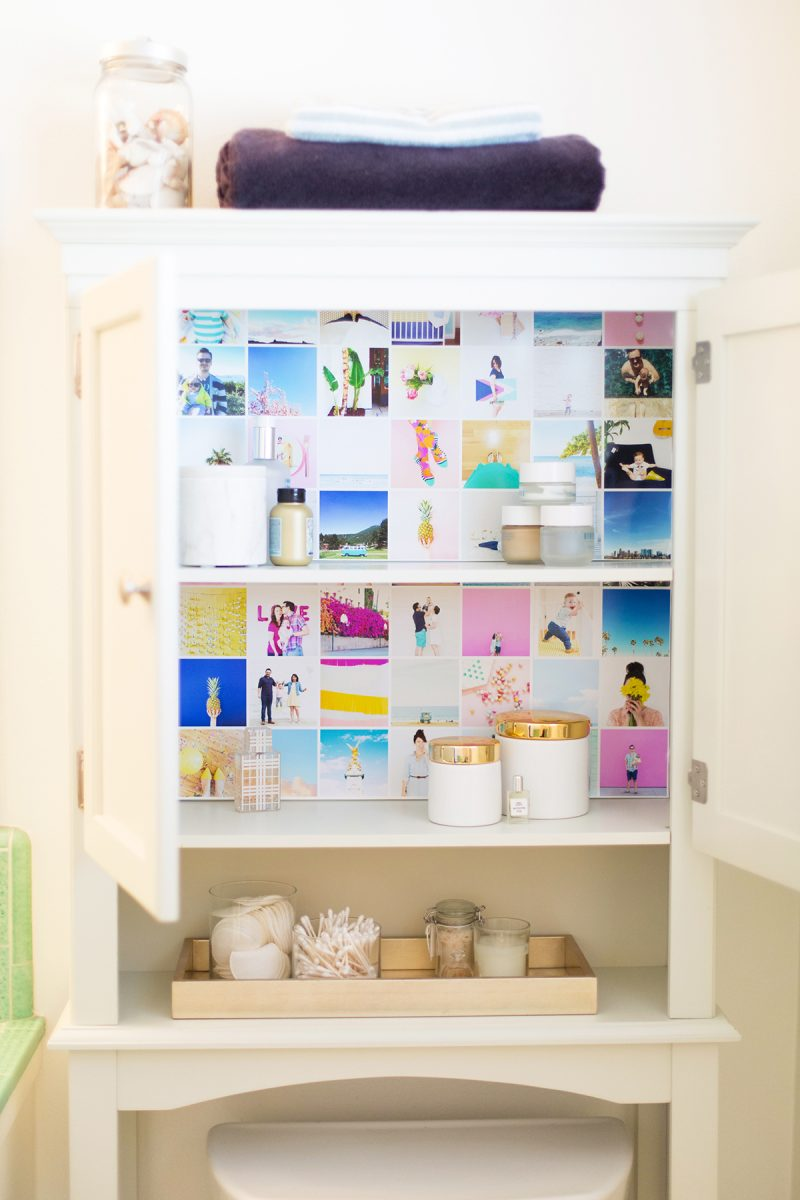 Use Instagram Photos To Wallpaper Your Cabinets Lovely Indeed