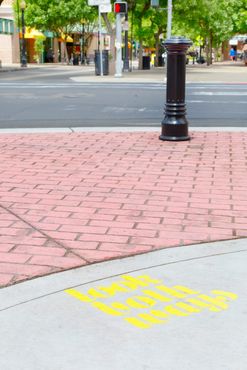 How to make vinyl surprise messages on the sidewalk