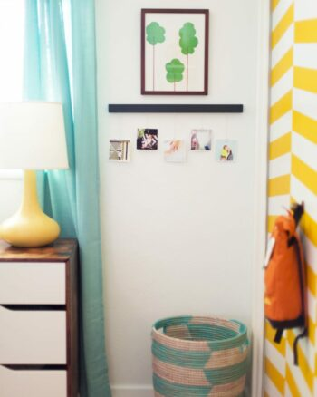 Photo Timeline for a Kid's Room