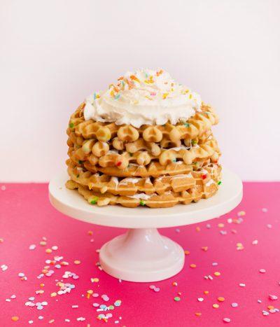 Funfetti Waffle Cake thumbnail