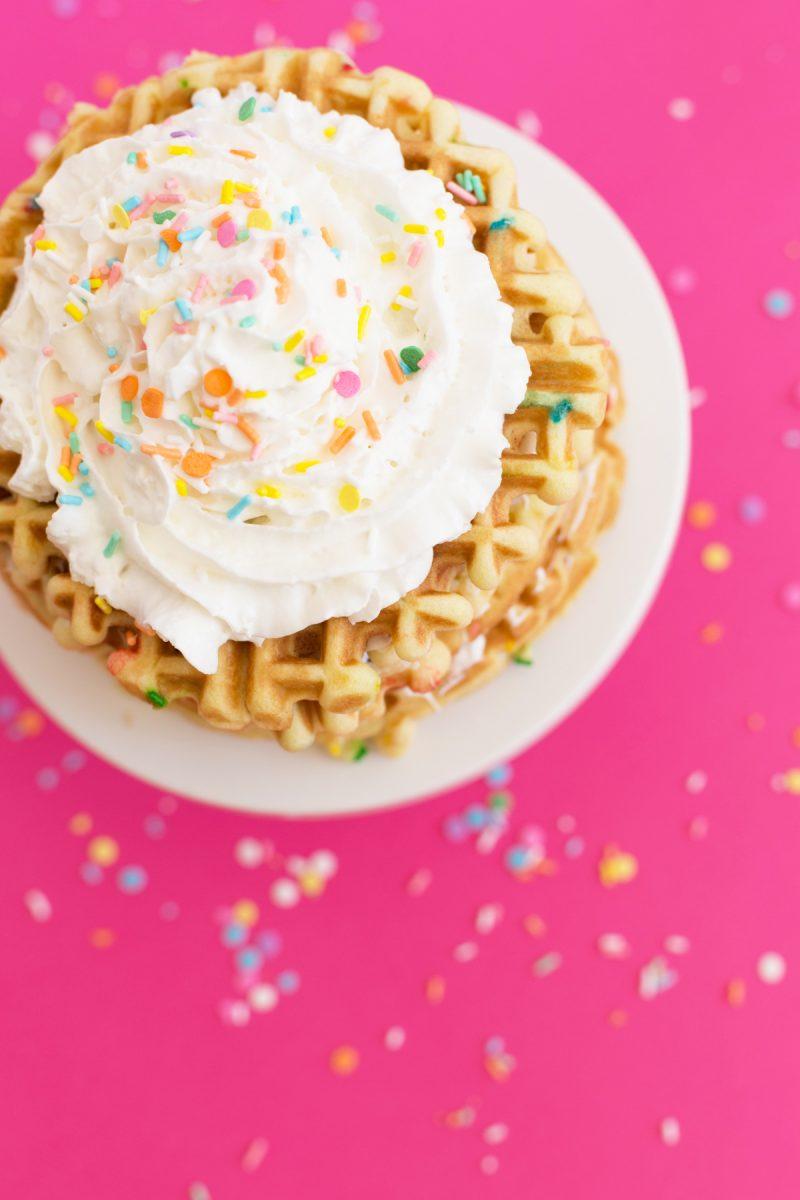 Funfetti Waffle Cake