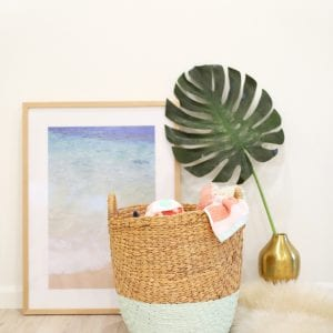 DIY Color-Dipped Clothes Hamper thumbnail