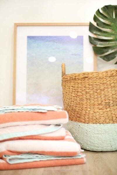 DIY Color Dipped Hamper Basket