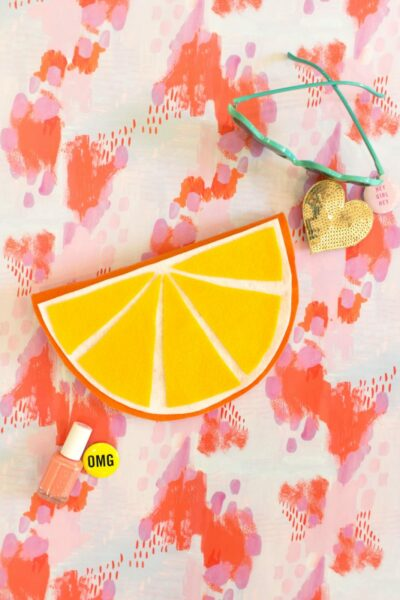 DIY No-Sew Fruity Foldover Pouch