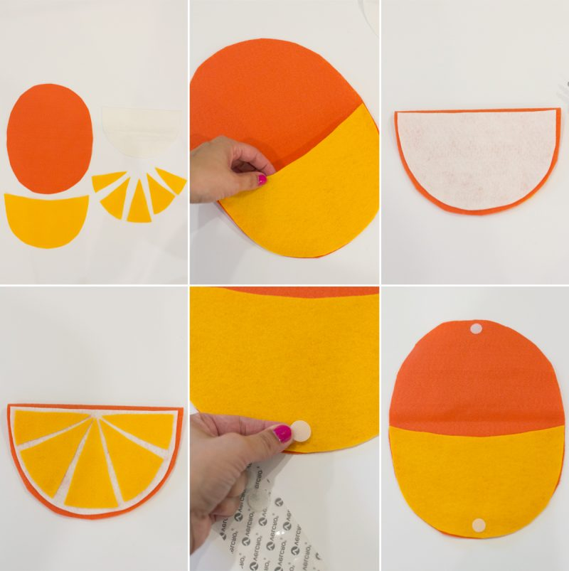 DIY No-Sew Fruity Foldover Pouch