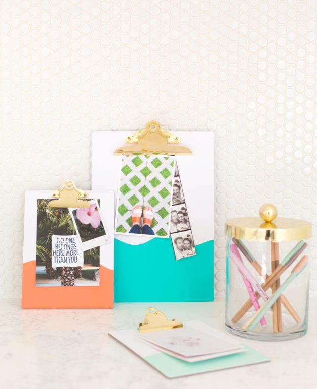 A Five Minute Weekend DIY // Customized Clipboards thumbnail