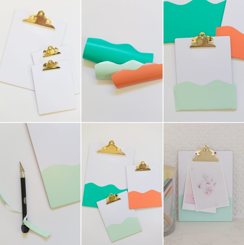 How to Customize Colorful Gold Clipboards